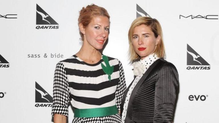 Designers Heidi Middleton and Sarah-Jane Clarke backstage at their last sass & bide fashion show at New York Fashion Week back in February.