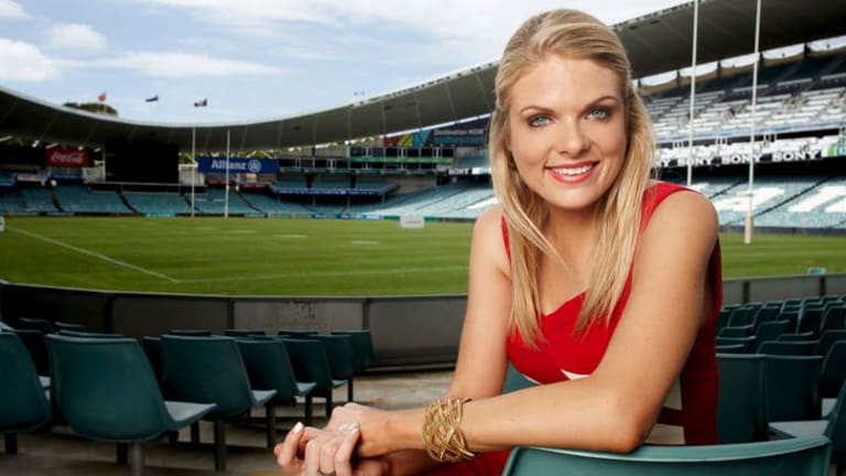 Channel Nine reporter and <i>The Footy Show </i>panelist and former Canberran Erin Molan.