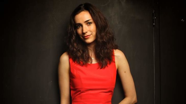 Coming of age: Geraldine Hakewill combines scriptwriting with acting.