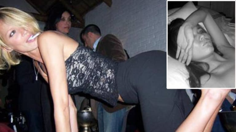 Model behaviour ... one of the photos of Liskula Cohen posted on the Skanks in NYC blog. The model brought it on herself says the lawyer for blogger Rosemary Port (pictured top right) who now plans to sue Google.