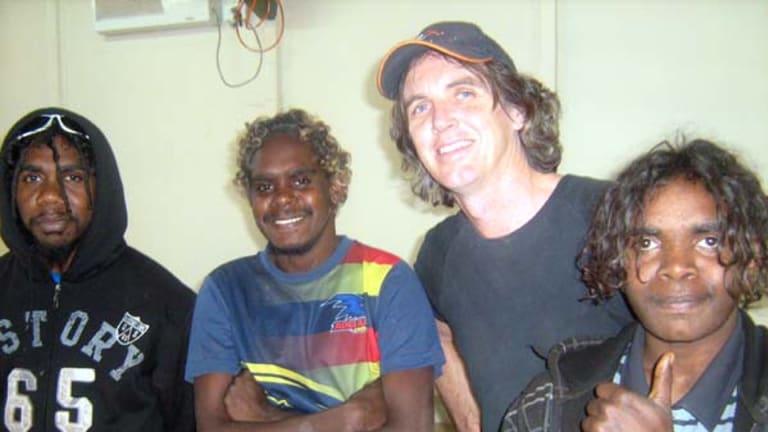 L-R: Turlku 4 musicians Lemih Thompson, Mitaki Ward, John Gordon and Dixon Bell - all from Wanarn community.