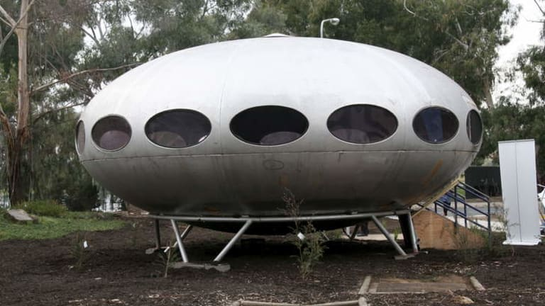 The Futuro has been dismantled and taken to Fyshwick for specialist restoration work.