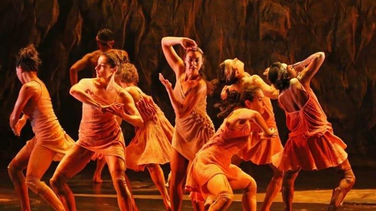 Cultural encounter: Dancers from Bangarra Dance Theatre.