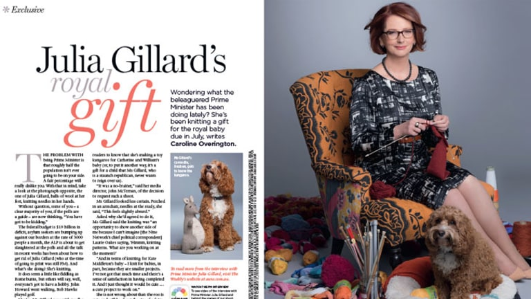 Julia Gillard in the Australian Women's Weekly