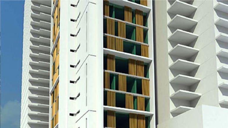 An artist's impression of the CBD's newest hotel development.