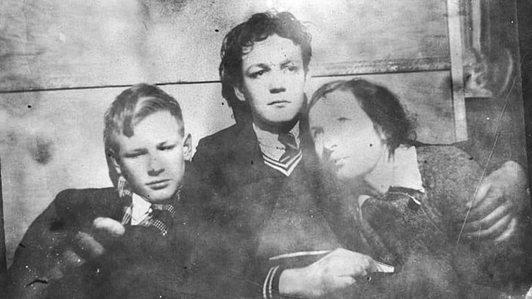 Bold storyteller ... Guy, David and Mary Boyd, circa 1936.