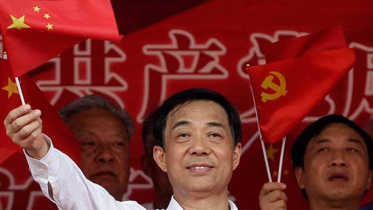 Seeing red ... Bo Xilai, sacked from his job.