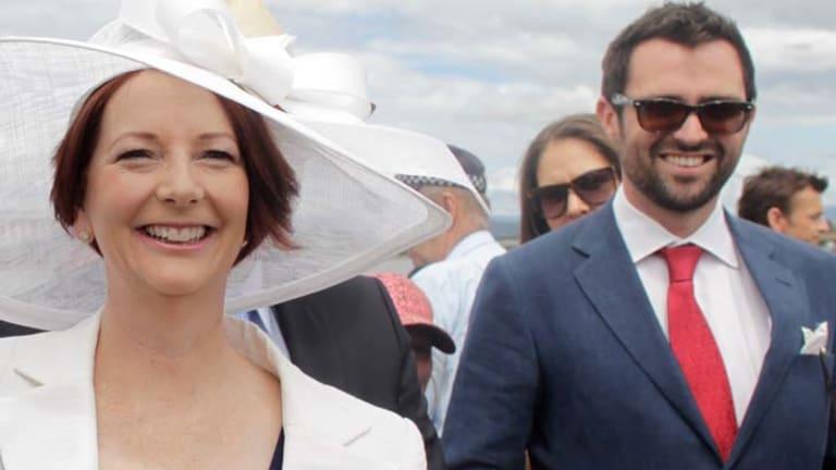 Former Gillard press adviser Tony Hodges with Prime Minister Julia Gillard.