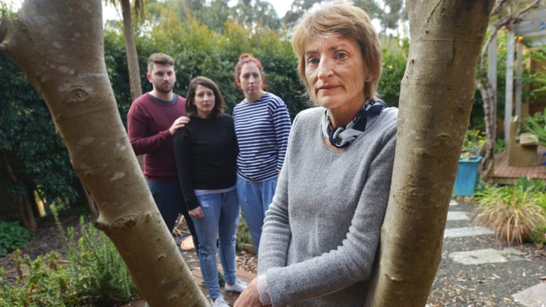 Dying with dignity campaigner Ray Godbold's family (left to right) son Rory, daughter Ella, daughter Tara Szafraniec and wife Robyn.