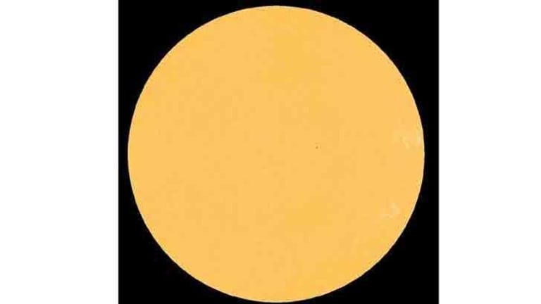 Almost spotless: the sun on July 18.