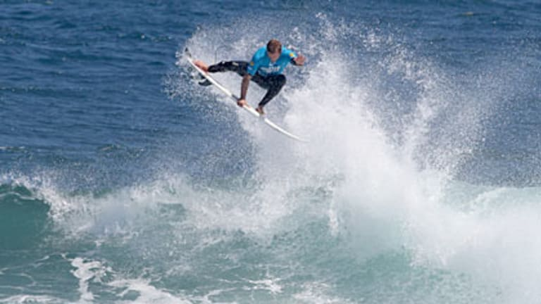 Josh Kerr pulls off huge aerials to snatch victory at the Margaret River Pro finals today.