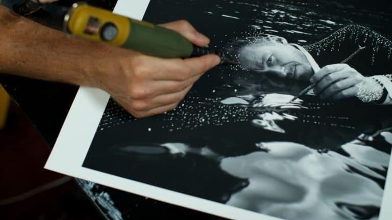 Joshua Yeldham creating an artwork for Spectrum's cover.