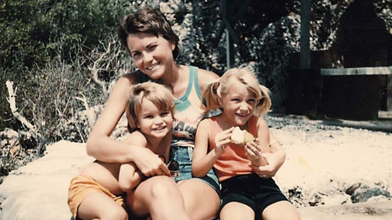 Helen Cummings with her young children