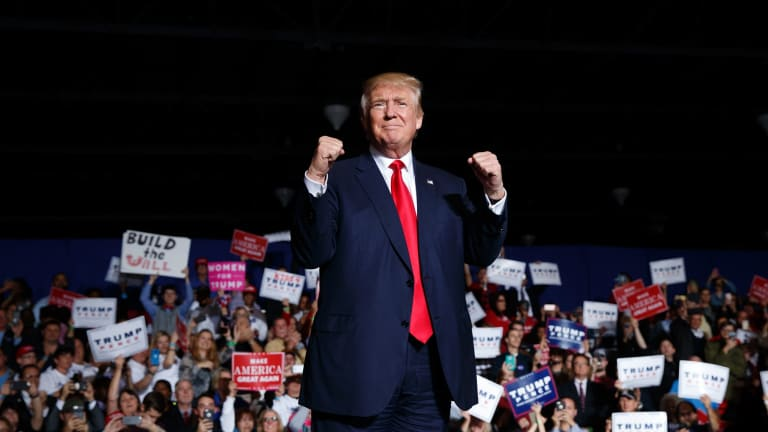 Republican presidential candidate Donald Trump, who railed against the FBI's July decision not to recommend charges against Clinton, can hardly believe his good fortune.