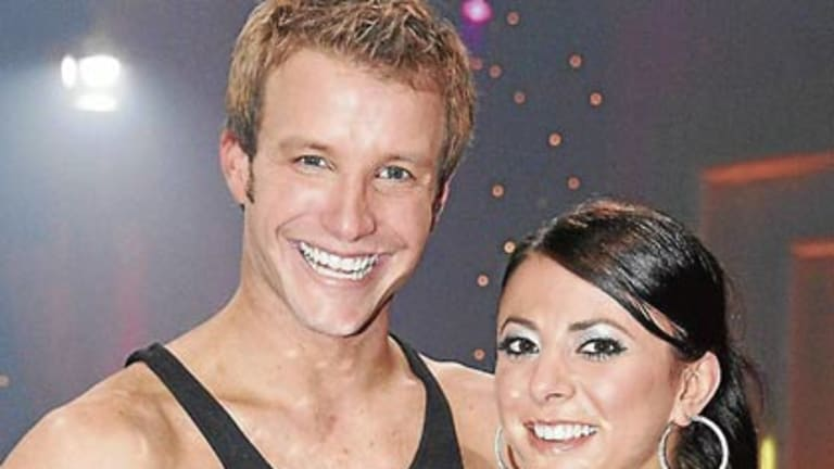 Luke Jacobz and dance partner Luda Kroitor, who won Dancing with the Stars in 2008.