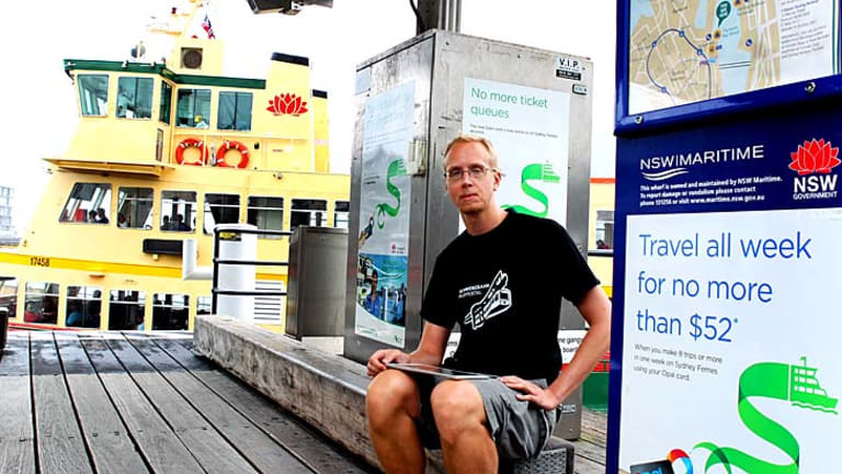 "Paying the price: Jani Patokallio said he created the opalornot.com site to vent his disapproval with the Opal smartcard. ""I realised the way I actually commute it would cost me like $10 more per week."""