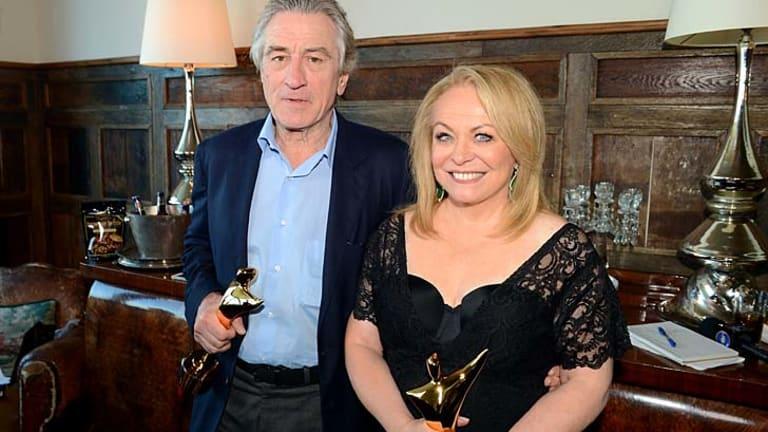 Honoured and awarded ... Robert De Niro and Jacki Weaver.