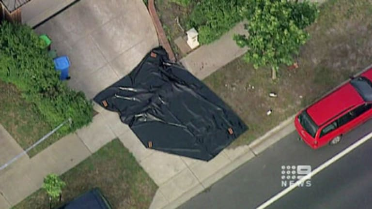 The scene at Narre Warren where Mark Zimmer died after being run down by Leon Borthwick, who was driving his mother's car.
