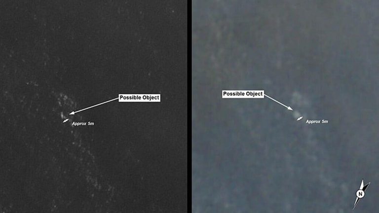 ASMA has released satelite images of the unidentified objects.