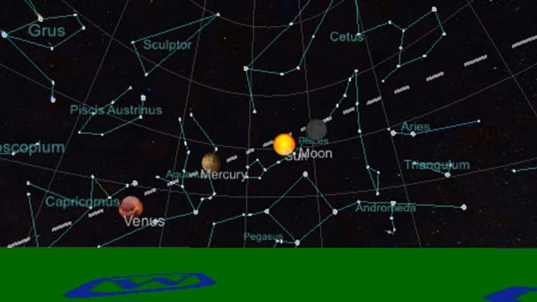Better for beginners: A screenshot of the Planets app.