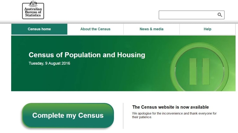 The ABS announced the census was back online days after its official date.