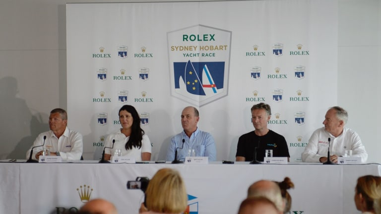Captains' call: Super maxi owners and skippers Shane Kearns, Zoe Taylor, Matt Allen, Christian Beck and Sandy Oatley.