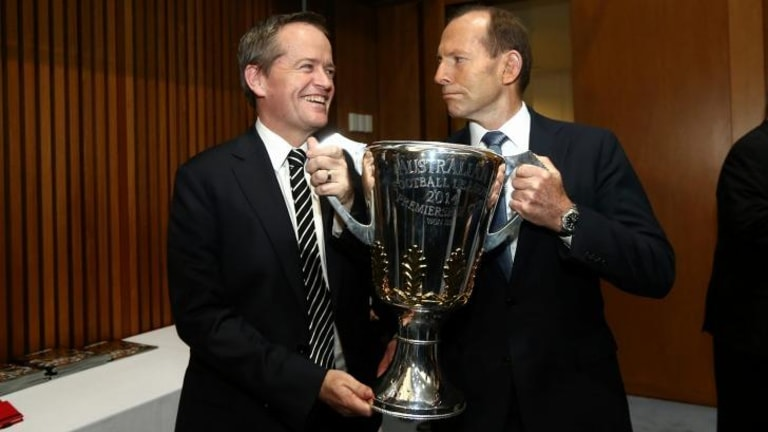 Opposition Leader Bill Shorten, says Prime Minister Tony Abbott, pictured with Shorten on Tuesday, is not fit to govern.