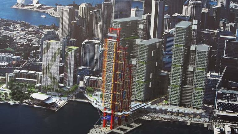 Big Red: The old Lend Lease plan.