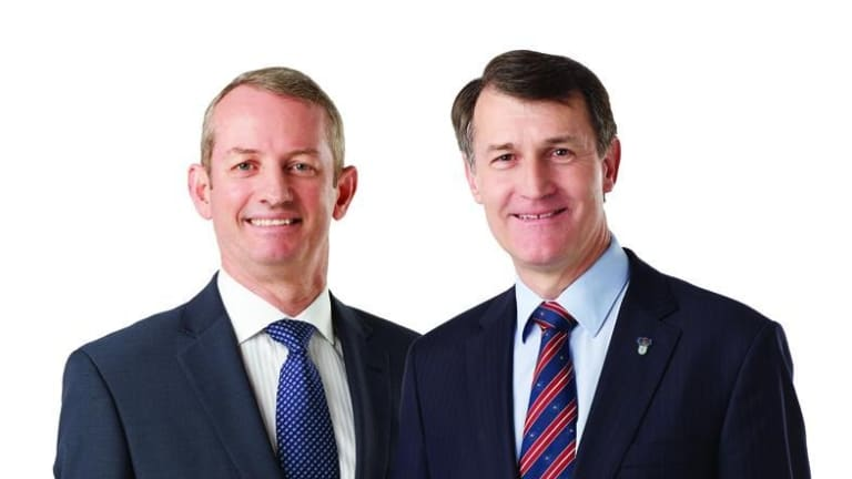 Lord Mayor Graham Quirk and LNP candidate Adam Allan.