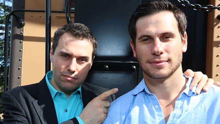 Sydney born Ben Sand, 31, and Meron Gribetz, 28, are co-founder in Meta SpaceGlasses.