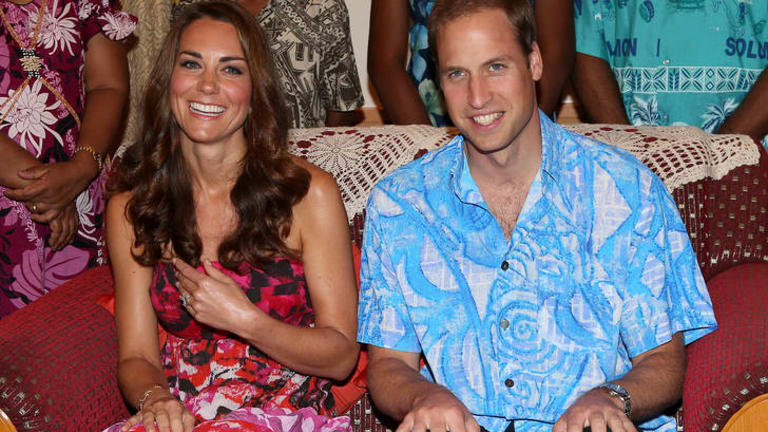 The happy couple ... William and Kate.