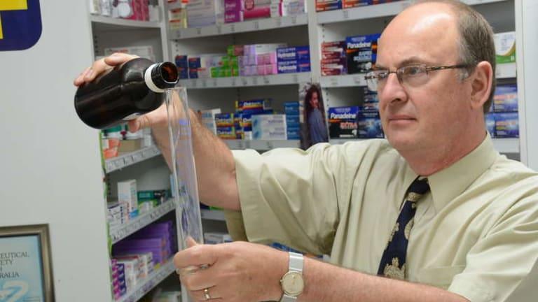 Ian Carr at Saxby's pharmacy in Taree.