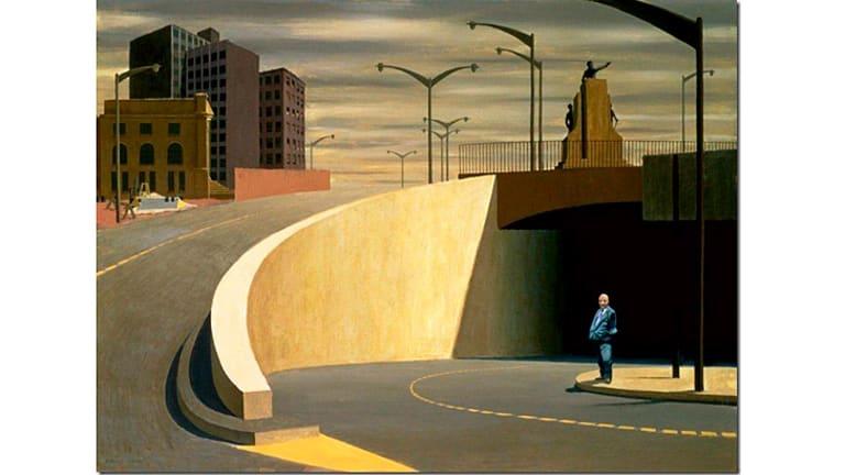 Jeffrey Smart's <i>Cahill Expressway</i>.