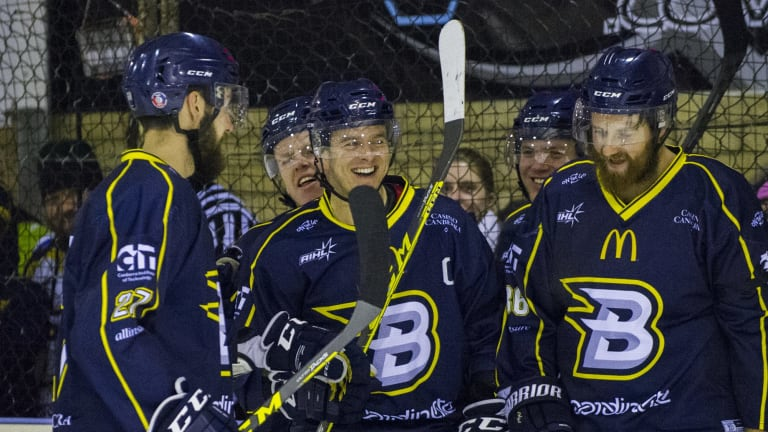 All Smiles: The Canberra Brave are just one win away from lifting the Goodall Cup for the first time in franchise history.