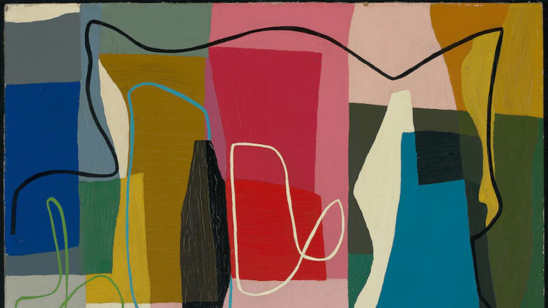 Abstract painting (detail), 1947.