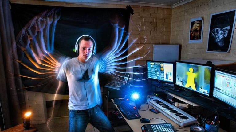 Chris Vik uses Microsoft's Kinect technology for the Xbox 360 video game console to turn movement into sound.