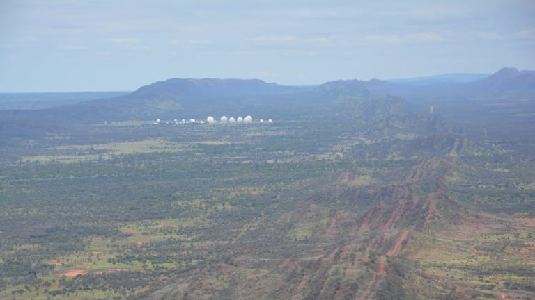 Pine Gap, the spy base in central Australia Photo Credit: Felicity Ruby for Dan Flitton story THE SUNDAY AGE NEWS Pub date 28th February 2016