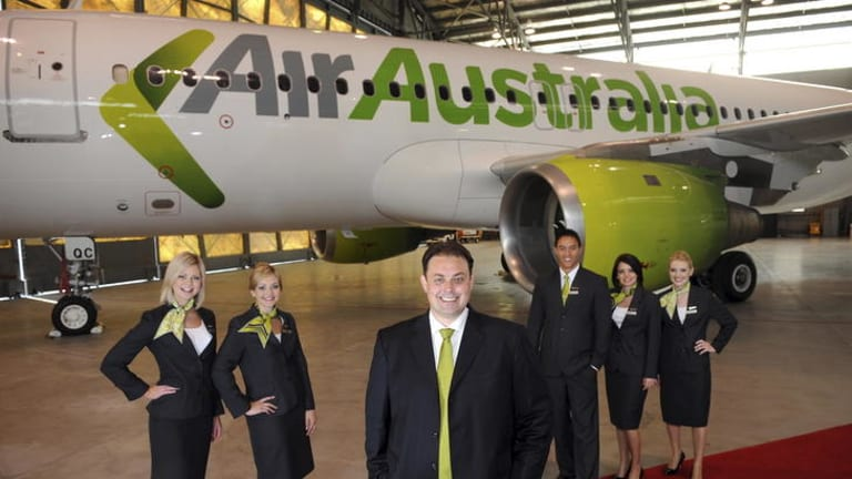 Air Australia chief executive Michael James in better times.