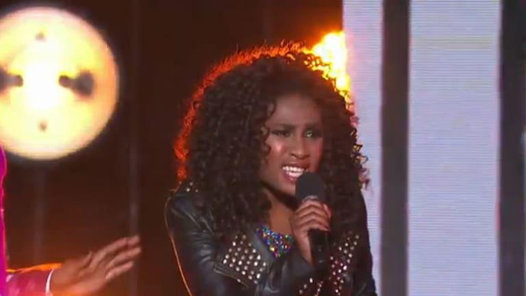 Not enjoying the performance ... Adira-belle perform on <i>The X Factor</i> elimination.
