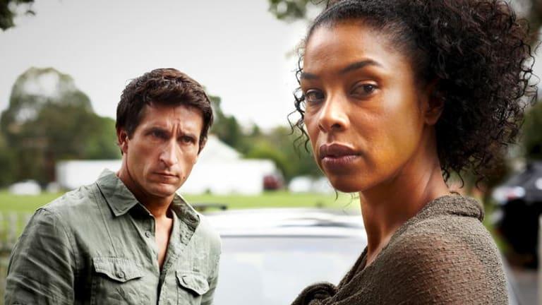 Hector (Jonathan LaPaglia) and Aisha (Sophie Okonedo) star in the ABC's, <i>The Slap.</i>