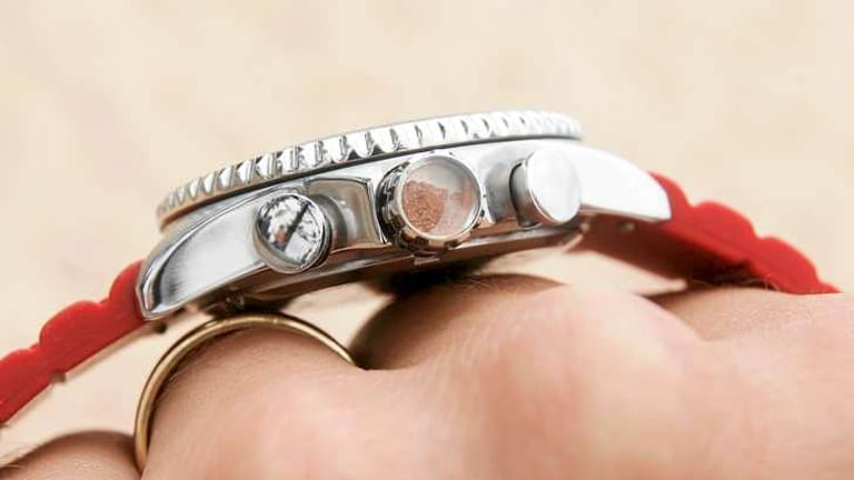 An Australian element such as red earth is embedded in the crown of Bausele watches.