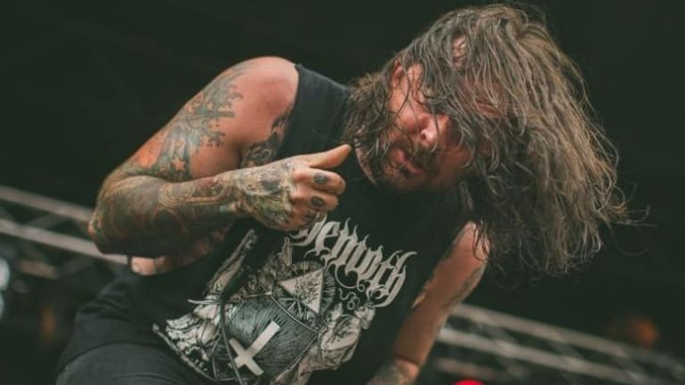 CJ McMahon, lead singer of the band Thy Art is Murder, from Facebook.