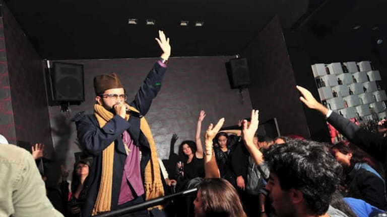 Yassin Alsalman raps: 'No other music can allow you to speak a certain amount of information in 30 seconds.'