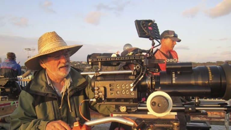 Action man ... Don McAlpine at work on new film <em>Mental.</em>