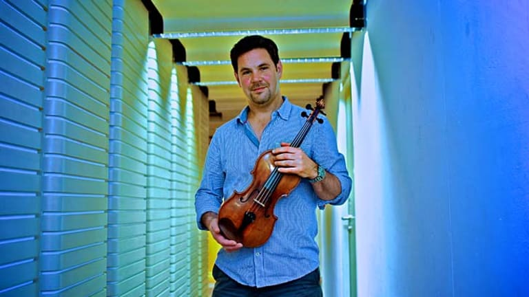 Have violin, will travel: Andrew Haveron.