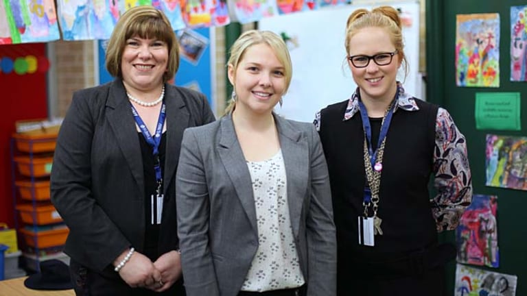 Supported … (from left) the St Paul's Grammar director of planning and organisation, Karen Keogh, with teachers Sarah Blaszczyk and Dominique Anderson.