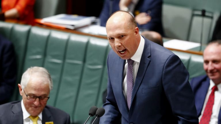 "Peter Dutton suggested the first refugees to leave Manus Island for America under an Australia-US resettlement deal were ""economic refugees""."