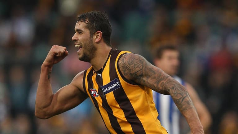 Not yet ... Lance Franklin will not be risked against the Geelong.