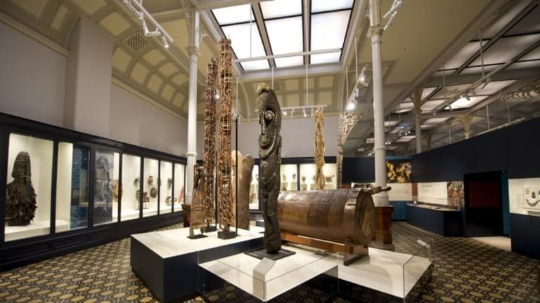 Newly opened gallery at the Australian Museum, Pacific Spirit.