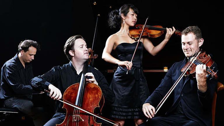 From left, pianist Evgeny Ukhanov, cellist Thomas Rann, violinist Rebecca Chan, violist James Wannan.